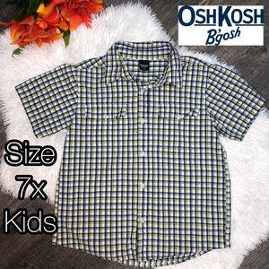 OshKosh B'gosh plaid button up shirt kids boys